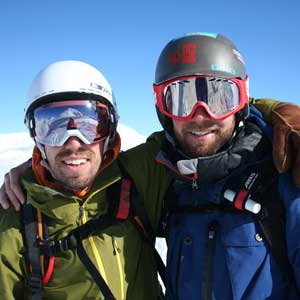 gap year ski instructor trainees image of
