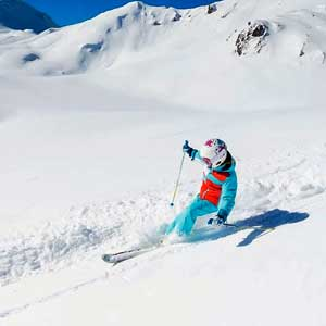 kids group lesson in tignes in action image of