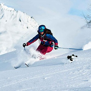 Women only group lesson in courchevel image of