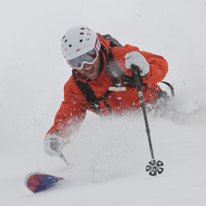 ski lesson in the val d'isere powder image of