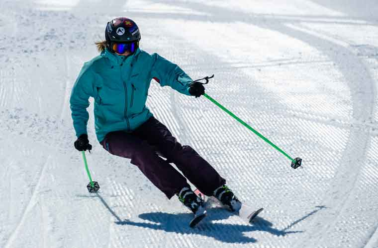 All Mountain skiing in action image of