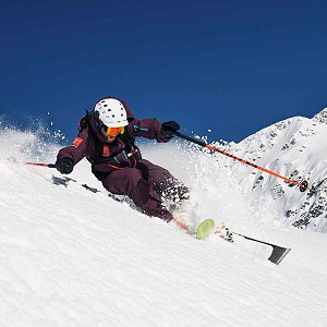 off piste skiing in Tines image of