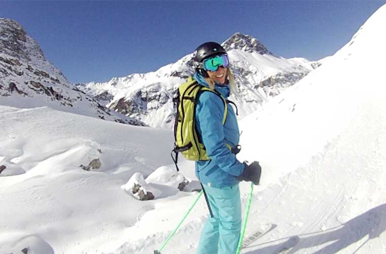 Early season course in val d'isere image of