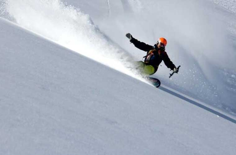 Group Freeride Snowboard Lessons in Tignes image of