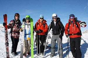 off piste group lesson in val d'isere image of