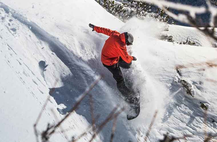 Private Freeride Snowboard Lessons in Val d'Isere image of